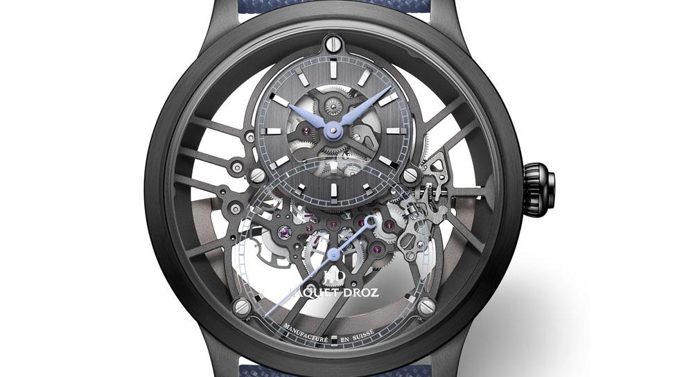 Jaquet Droz_ GRANDE SECONDE SKELET-ONE BLACK CERAMIC SKY BLUE