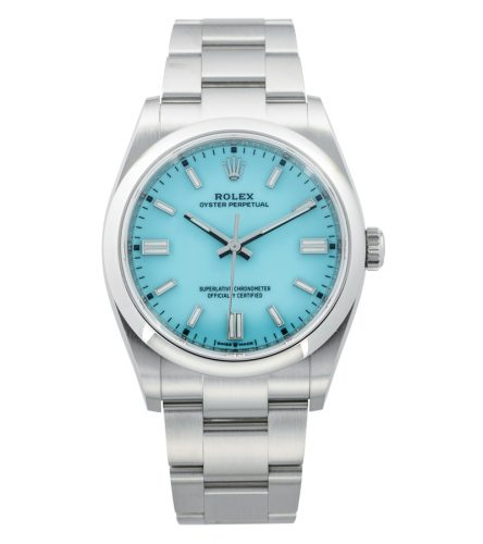 Rolex_Oyster Perpetual_front shot_torquoise